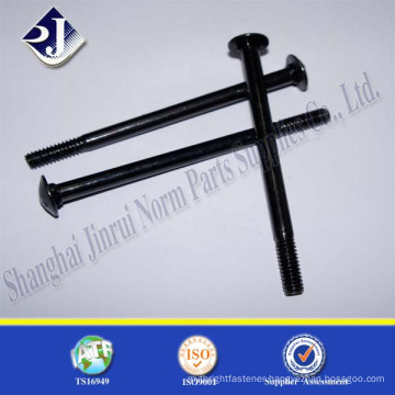 alibaba online supplier black zinc plated carbon steel carriage bolts